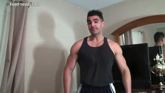Tall Muscular Fitness Model Patrick Shows Off His Size 13 Feet & Gets Tickled